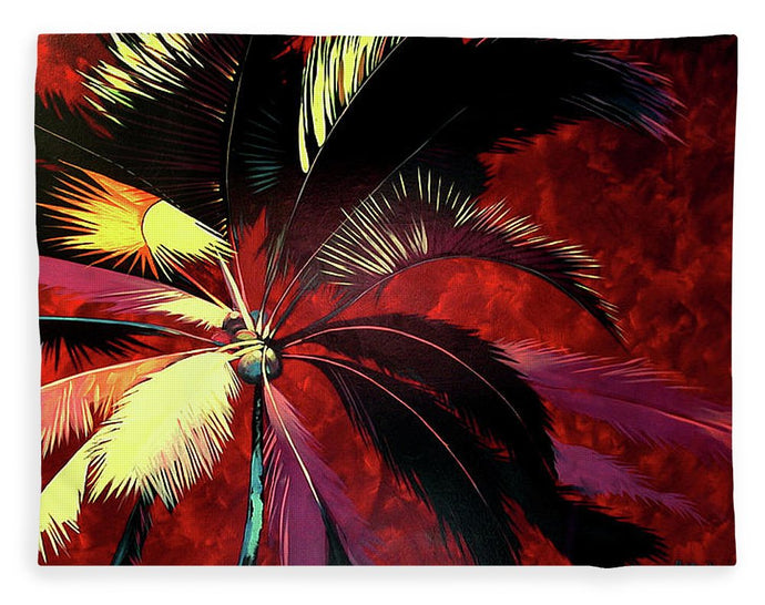 Maroon Palm - Blanket