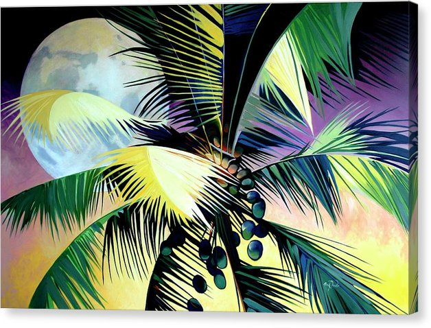 Moonlit Palm - Canvas Print