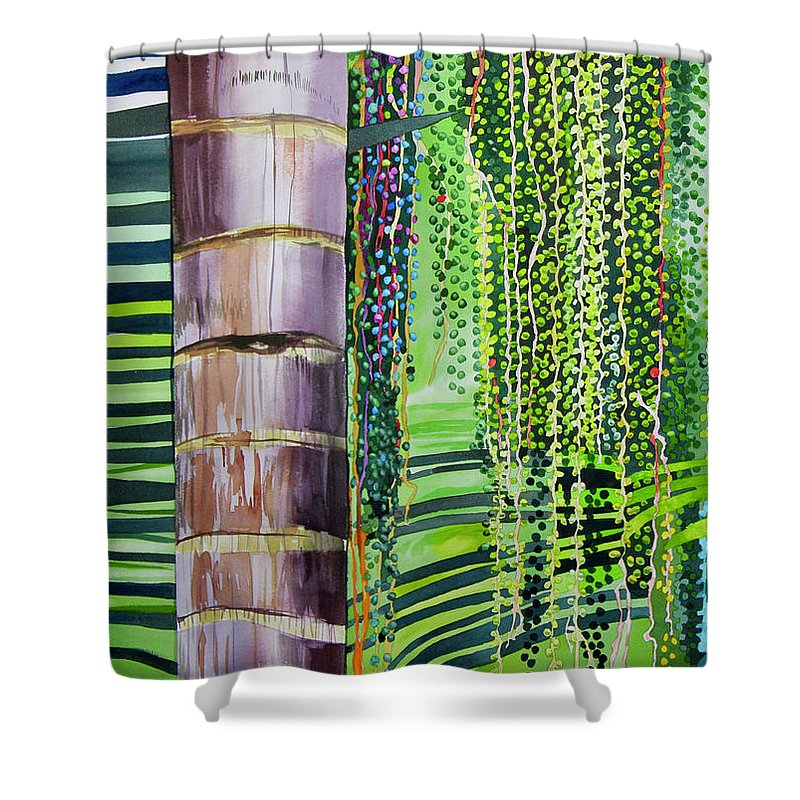 Palm Seeds - Shower Curtain