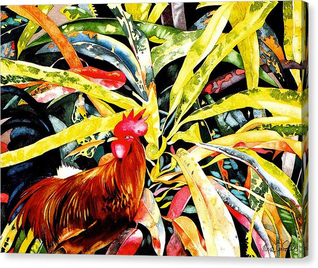 Rooster Croton - Canvas Print