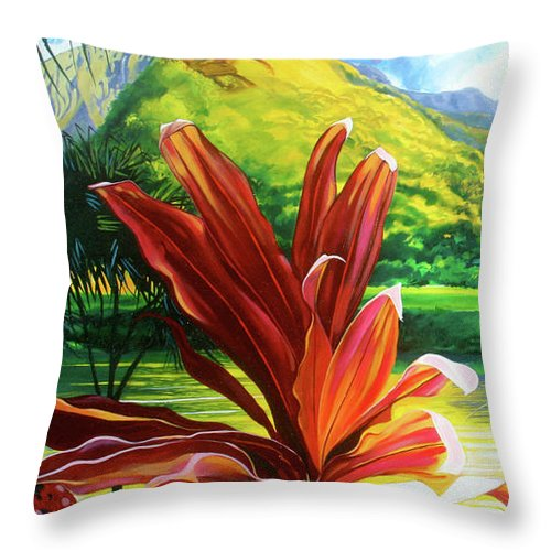 Waipa Sunset - Throw Pillow