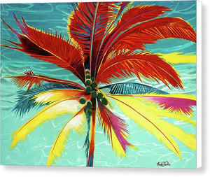 Wild Red Palm - Canvas Print