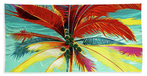 Wild Red Palm - Beach Towel