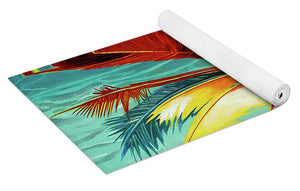 Wild Red Palm - Yoga Mat