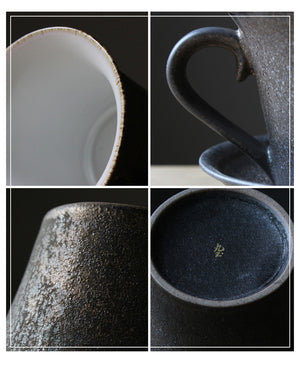 Cup with saucer - metallic series