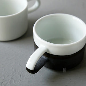 Duotone cup with saucer