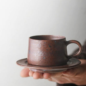 Espresso cup with saucer - multiple colours