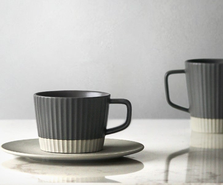 Pinstripe cup and saucer