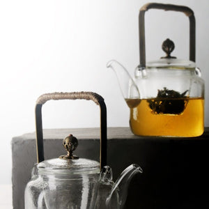 Glass teapot - Square series