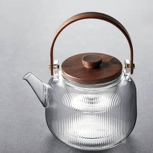 Glass Teapot - Stripe series