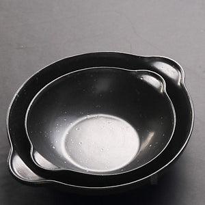 Double handles serving plates