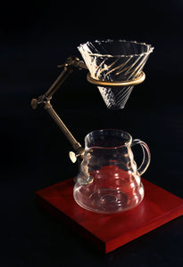 Coffee pour-over set: dripper holder stand+glass filter holder+coffee mug