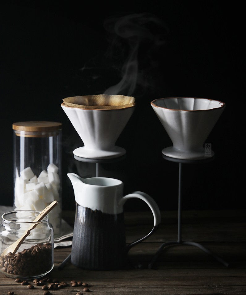 Handmade ceramic coffee dripper V60