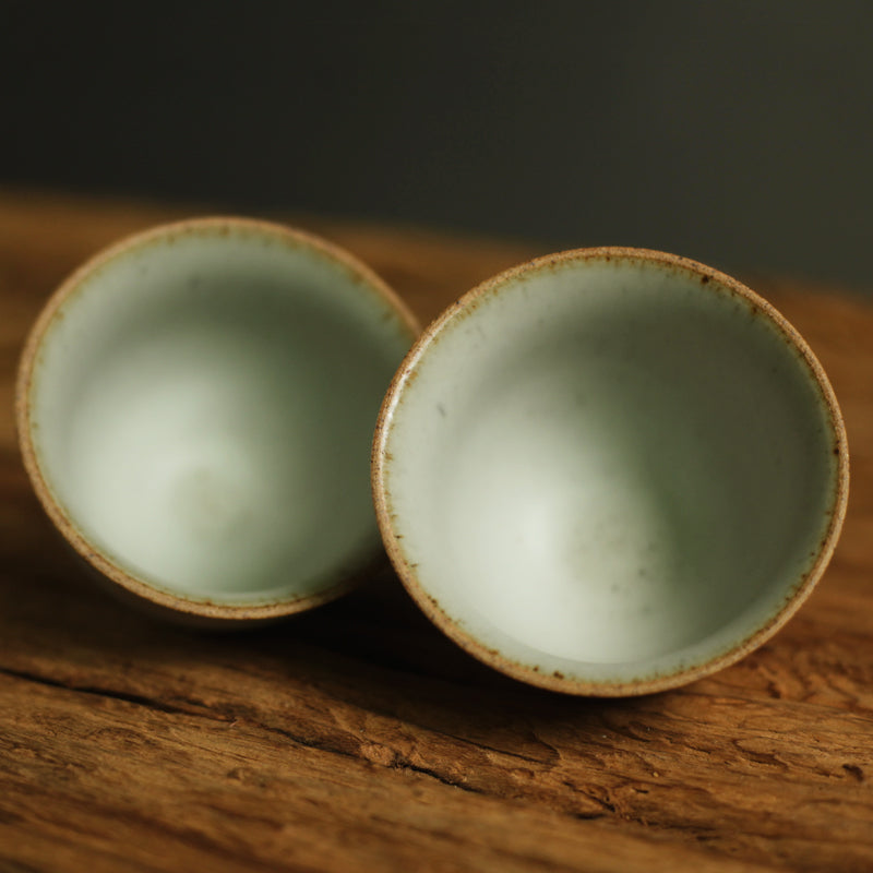 Pastel series - Ceramic sake teacup set of two