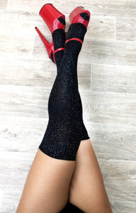 Lunalae Polewear - Sparkly Thigh High Socks
