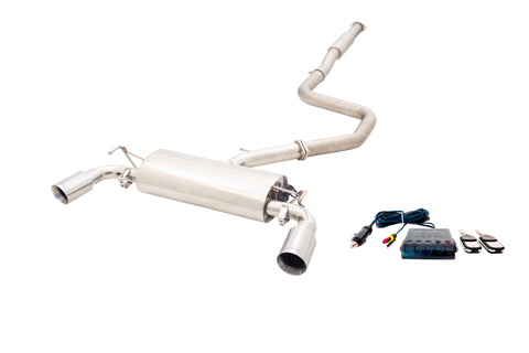 XForce NON – POLISHED STAINLESS STEEL 3″ CAT-BACK EXHAUST SYSTEM WITH VAREX MUFFLER, SMARTBOX AND TIPS
