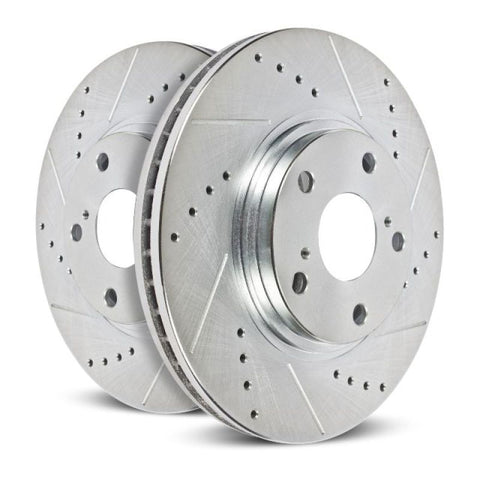 Power Stop Front Evolution Drilled & Slotted Rotors - Pair