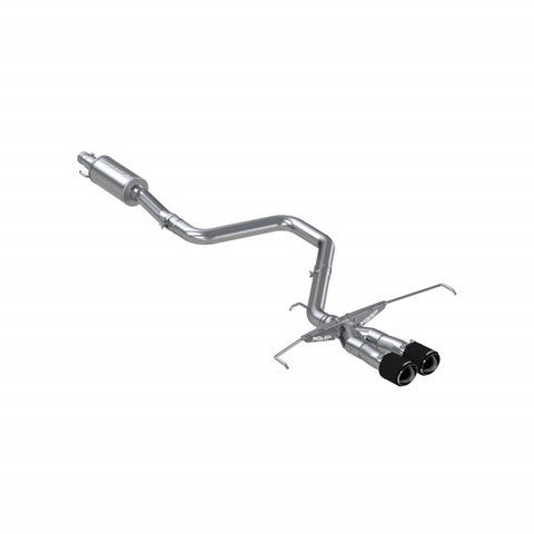 "MBRP T304 Stainless Steel, 3"" Cat Back, Dual Split Center Rear Exit, with Carbon Fiber Tips"