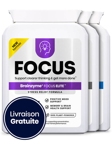 Brainzyme® Focus Pack 3-en-1 (x1 Élite, x1 Professionnel, x1 Original)