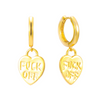 F*ck Off Earrings (gold or silver)