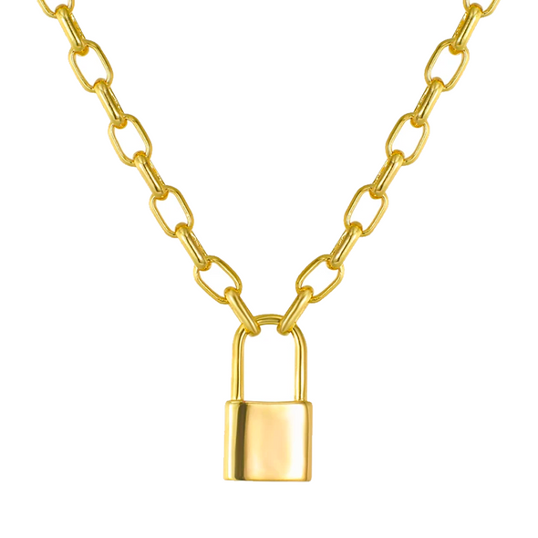 Keep Me Lock Necklace (gold or silver)
