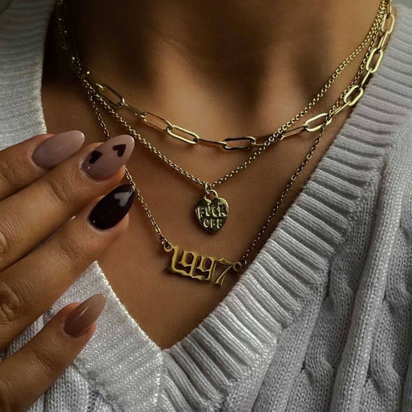 F*ck Off Necklace (gold or silver)