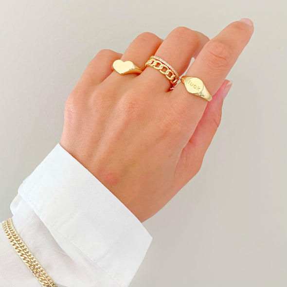 F*ck Ring (gold or silver)