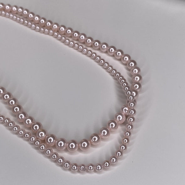 Rosy Pearls Necklace