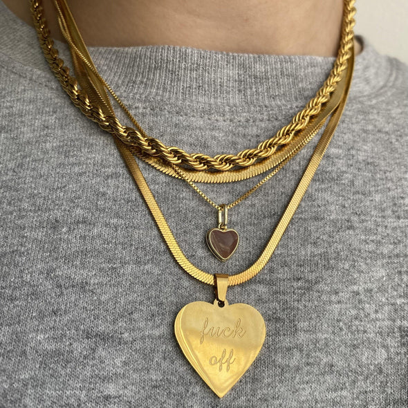 I Don't Love You Necklace