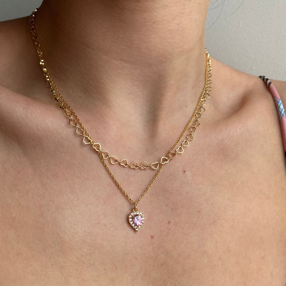 Broken Heart Necklace (gold or silver)