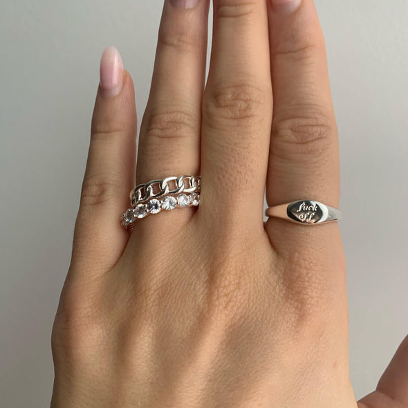 Leave me Alone Ring (gold or silver)