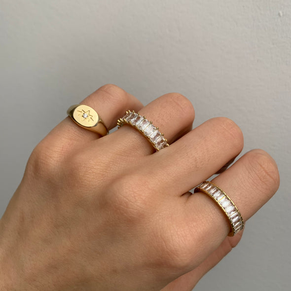 Take Me To Paris Ring (gold or silver)