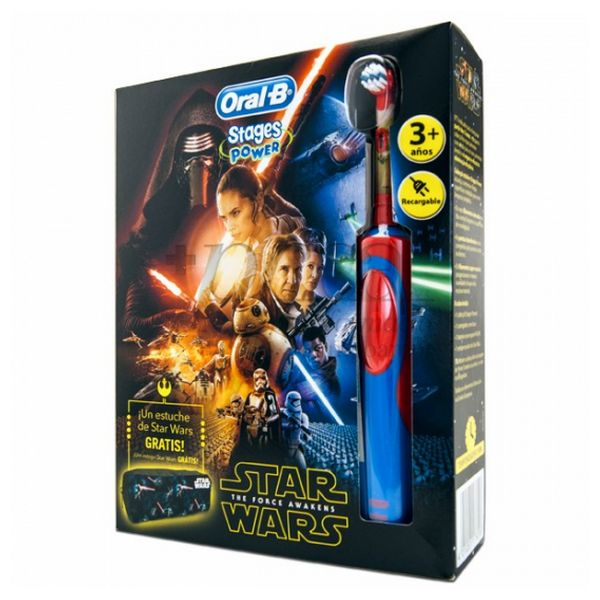 Electric Toothbrush Star Wars Oral-B Stages Power Vitality Blue Red