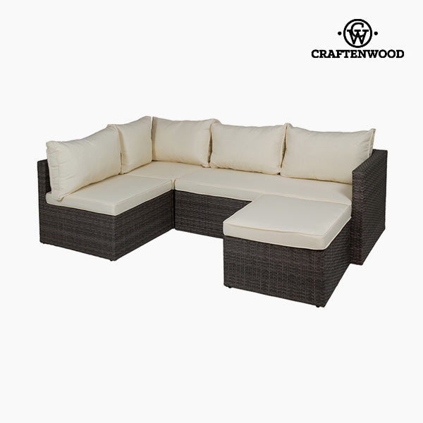 Sofa and Pouf Set (2 pcs) by Craftenwood