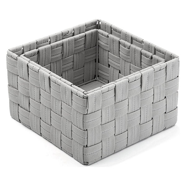 Set of Stackable Organising Boxes Grey