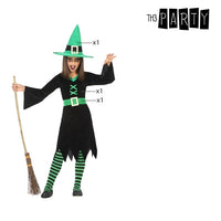 Costume for Children Witch Green (3 Pcs)