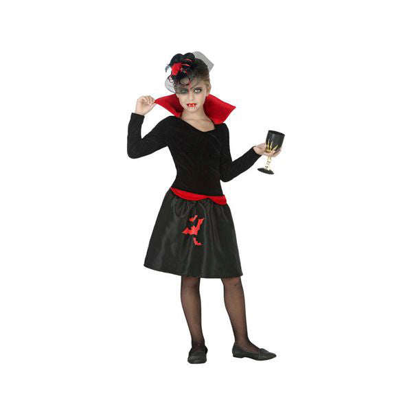 Costume for Children Vampiress Black (1 Pc)