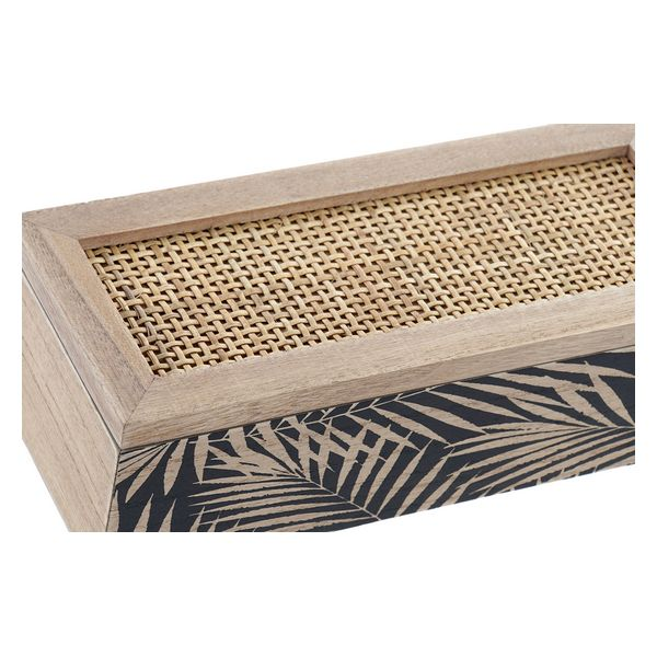 Box for Infusions Dekodonia Grille Rattan MDF Wood (24 x 10 x 7 cm)