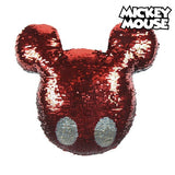 Magic Sequinned Mermaid Cushion Mickey Mouse 74490 Red (30 X 30 cm)