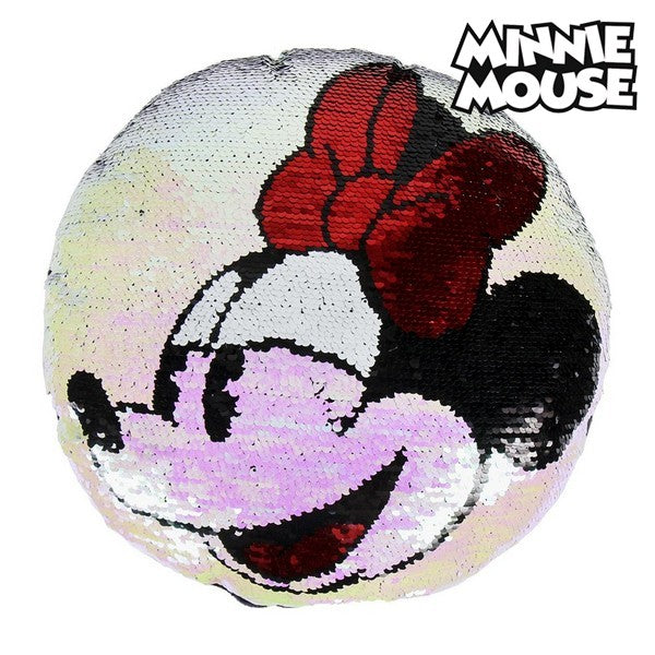 Magic Sequinned Mermaid Cushion Minnie Mouse 74491 (30 X 30 cm)