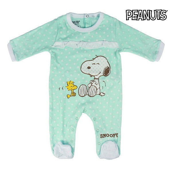 Baby's Long-sleeved Romper Suit Snoopy 74652 Turquoise