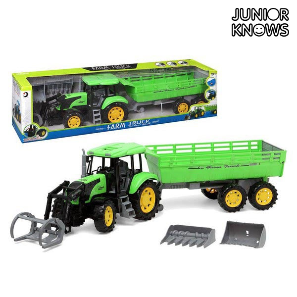 Tractor with Shovel and Trailer Junior Knows 1452