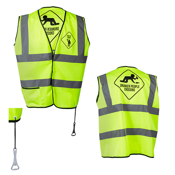 MEN Yellow Reflective Vest for Parties