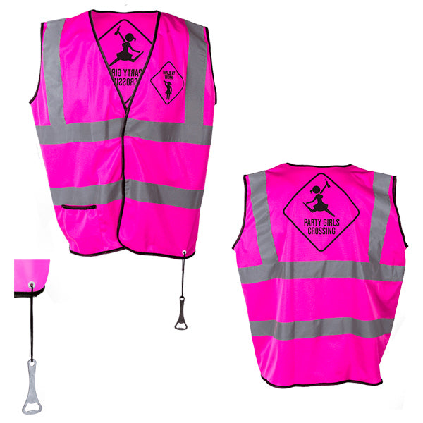 GIRLS Fuchsia Party Reflective Vest