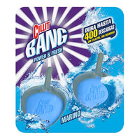 Cillit Bang Power & Fresh WC Marine Air Freshener & Toilet Bowl Cleaner Clip on tabs (Pack of 2)