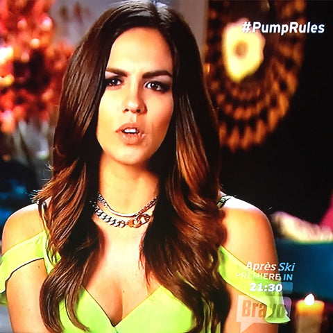 Katie Maloney wears eklexic on Bravo's Season 4 Premiere of Vanderpump Rules