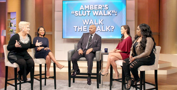 Scheana Shay wears eklexic on the Steve Harvey Show