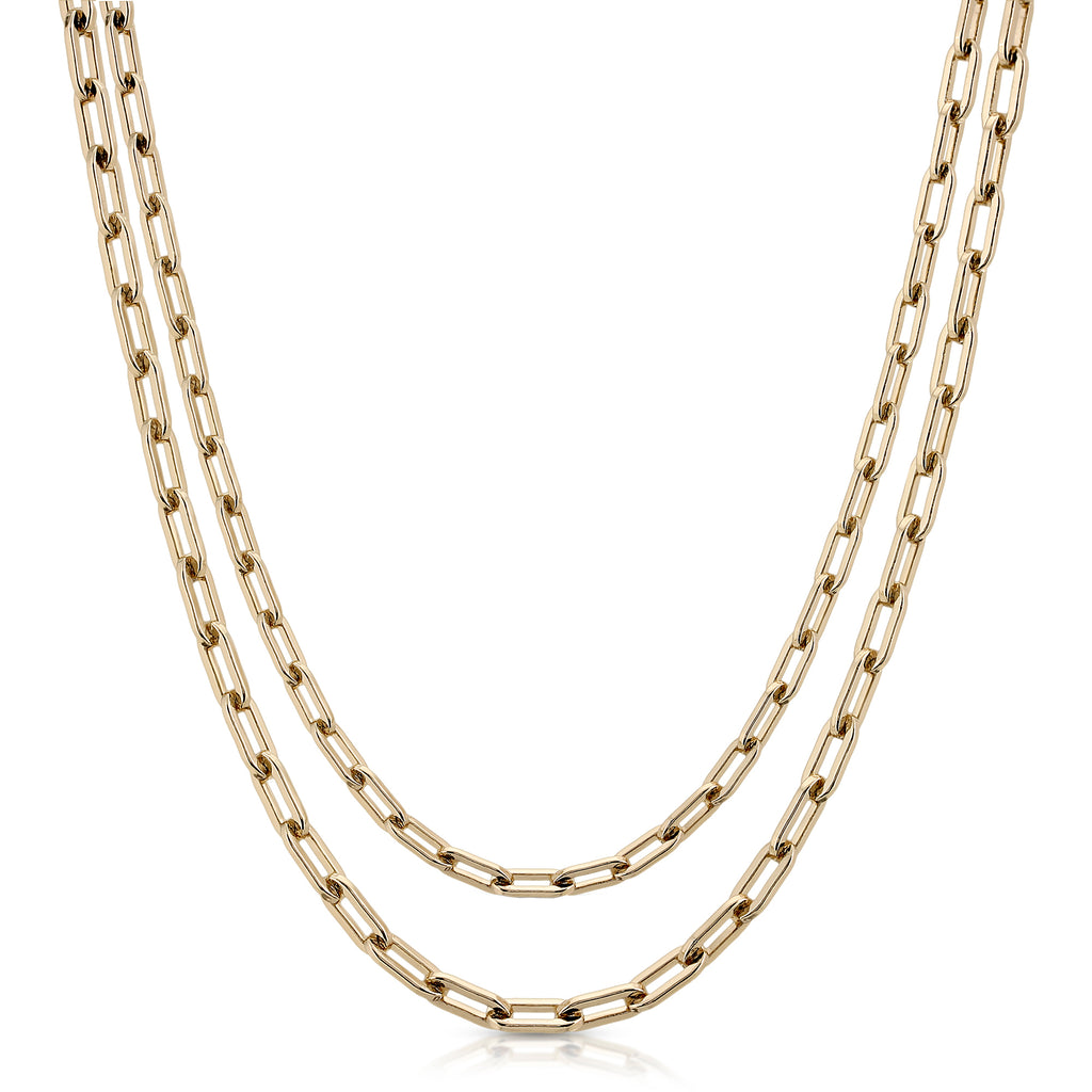 Double Medium Link Chain Necklace