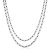 Silver Double Medium Link Chain Necklace