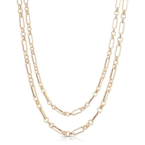Double Small Multi Link Chain Necklace